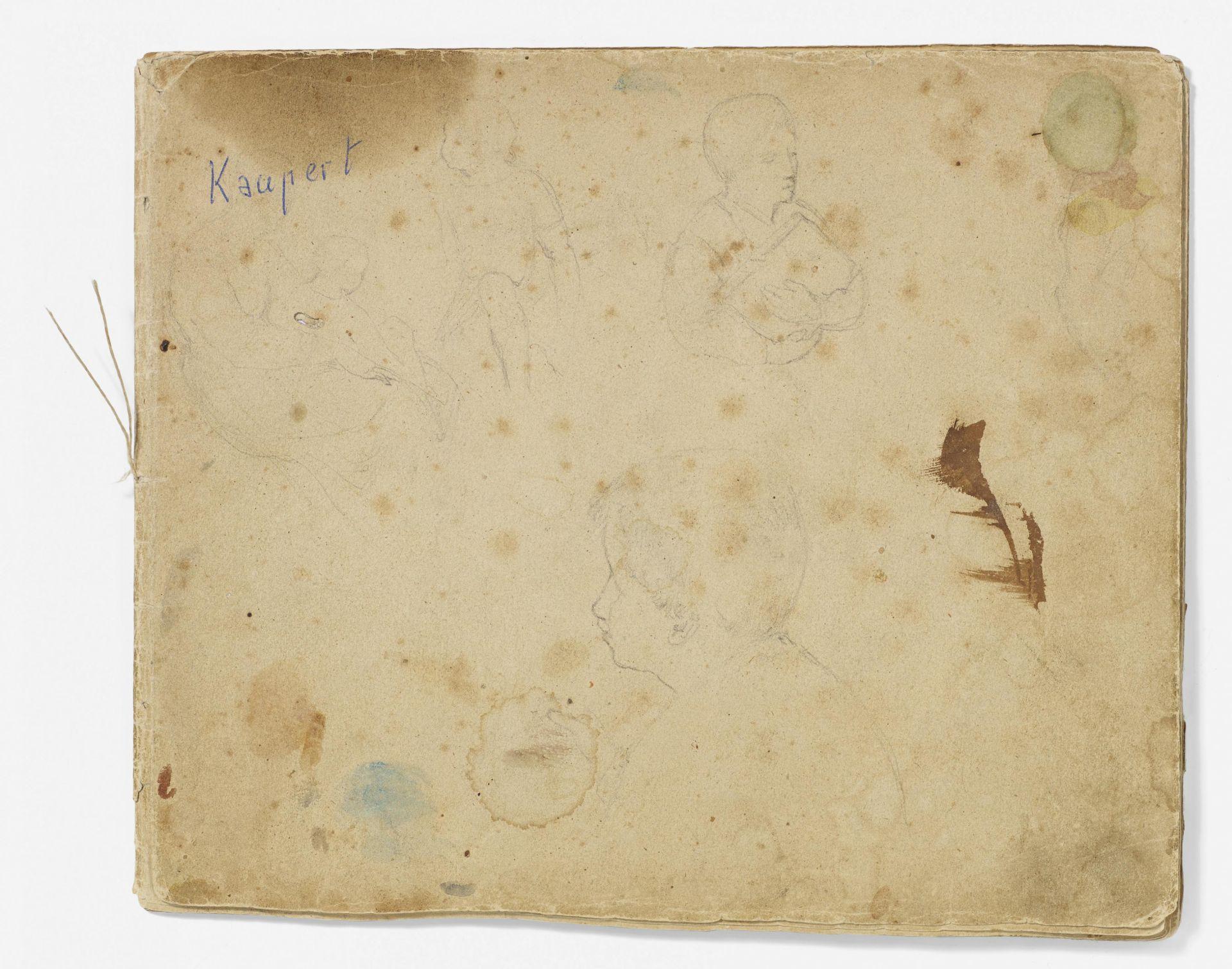 Kaupert, Gustav Kassel 1819 - 1897  Sketchbook, two booklets, each ca. 17 pages. Architectural - Bild 2 aus 8