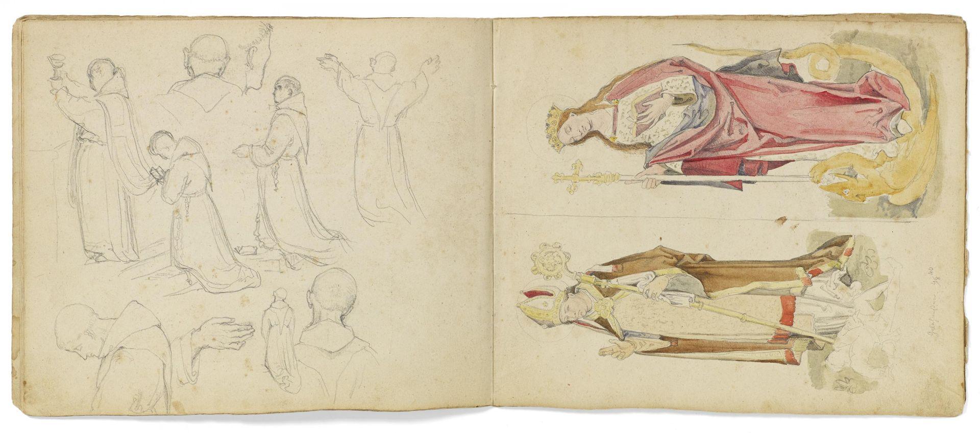 Kaupert, Gustav Kassel 1819 - 1897  Sketchbook, two booklets, each ca. 17 pages. Architectural - Bild 4 aus 8