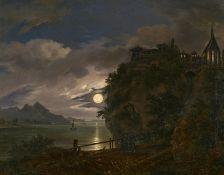 Becker, August. war tätig in Dresden und Düsseldorf 1830-1855Der Priesterstuhl bei Berchtesgaden. Öl