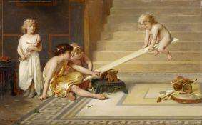 Coomans, Joseph 1816 Brussels - 1889 Boulogne-sur-Seine Playing Children. Oil on wood. 33,5 x