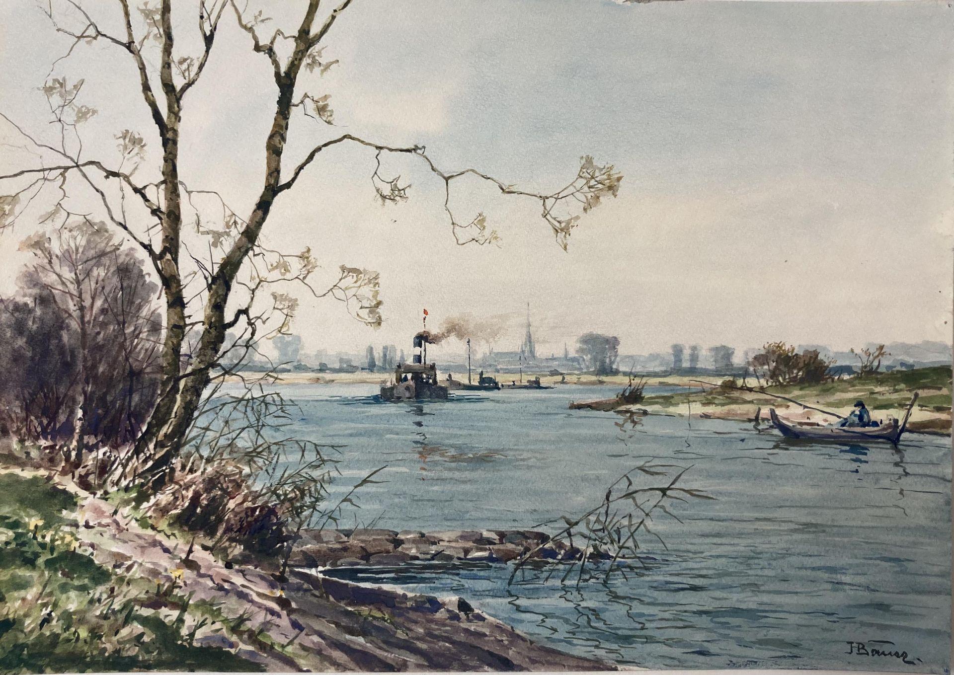 Bauer, Hans. 1883 Drebkau - 1967 Konstanz. Mappe mit 9 Aquarellen. Motive aus Bonn und dem - Bild 18 aus 20