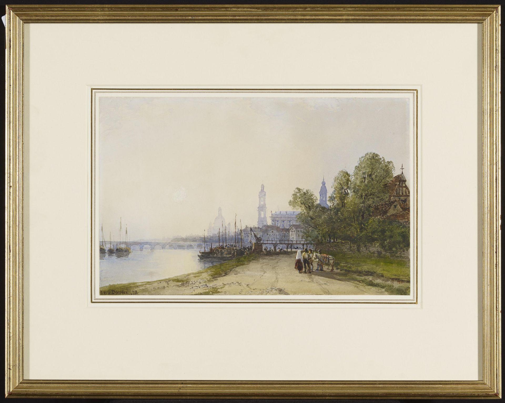 Wyld, William. 1806 London - 1889 Paris. Das Elbufer in Dresden mit Blick auf die Brühlschen - Bild 2 aus 4