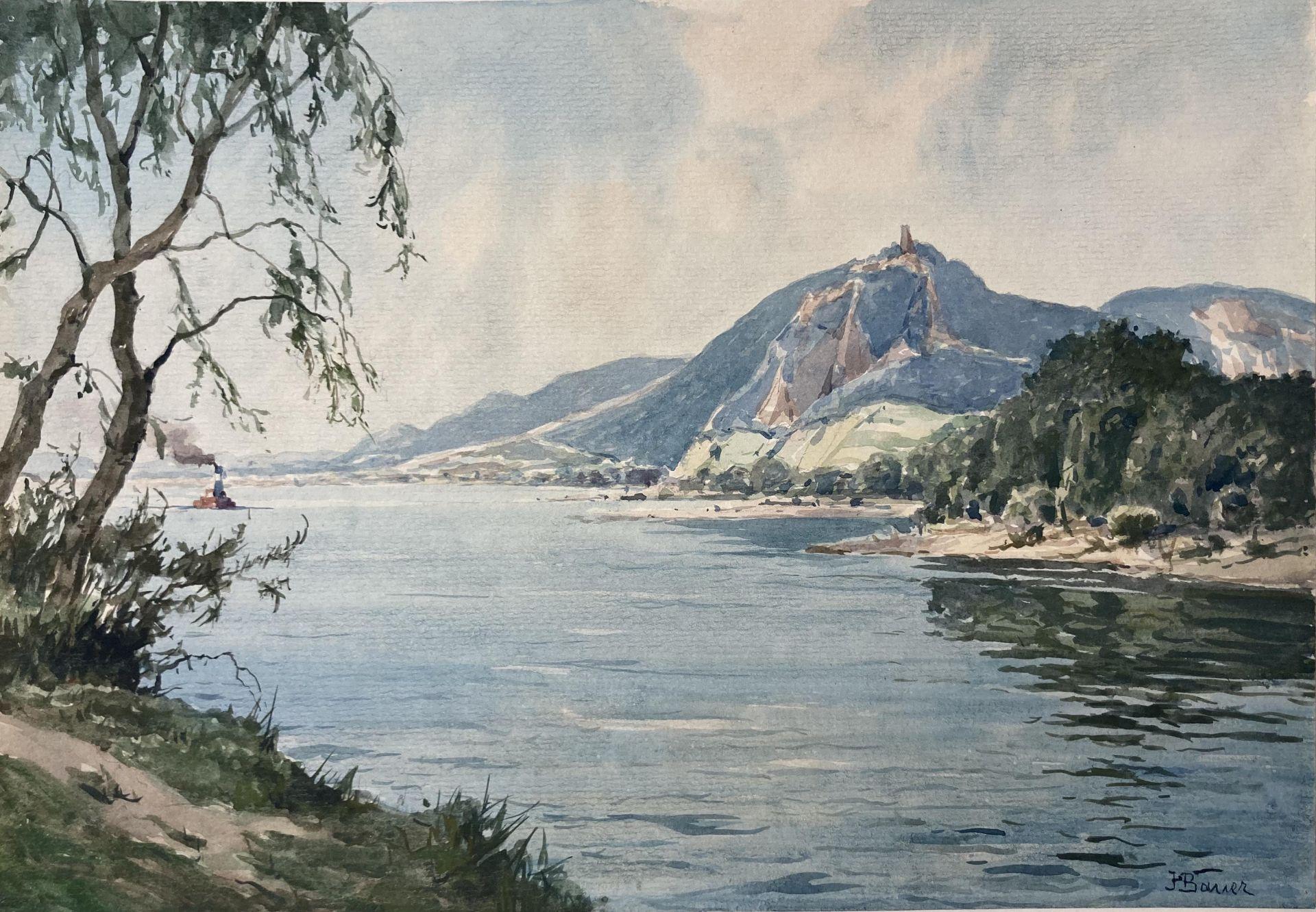 Bauer, Hans. 1883 Drebkau - 1967 Konstanz. Mappe mit 9 Aquarellen. Motive aus Bonn und dem - Bild 8 aus 20