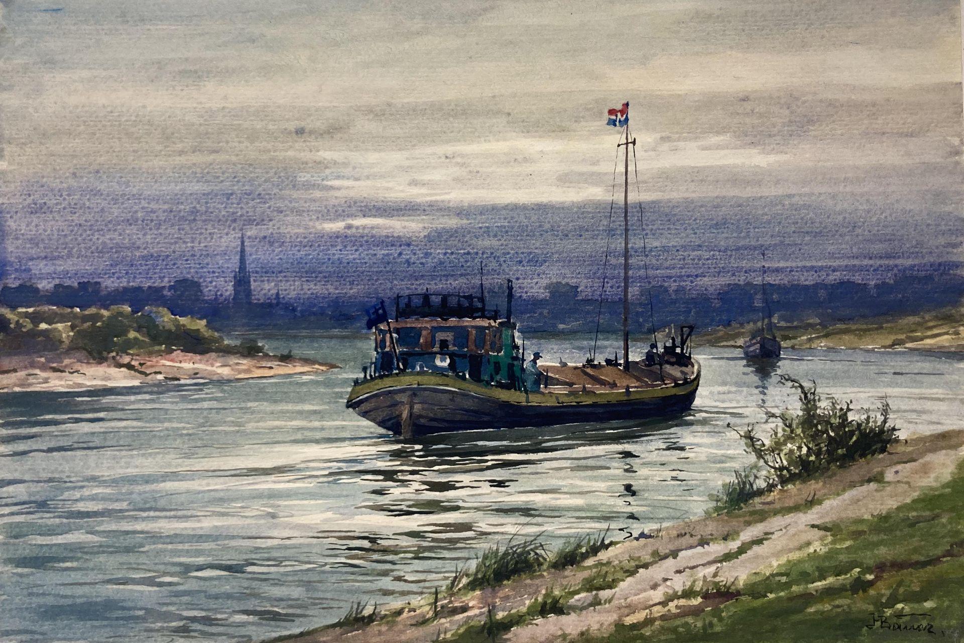 Bauer, Hans. 1883 Drebkau - 1967 Konstanz. Mappe mit 9 Aquarellen. Motive aus Bonn und dem - Bild 6 aus 20