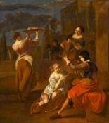 Utrechter Caravaggist. 17. / 18. Jh.Musizierende Gesellschaft im Park. Nach Jakob Ochtervelt. Öl