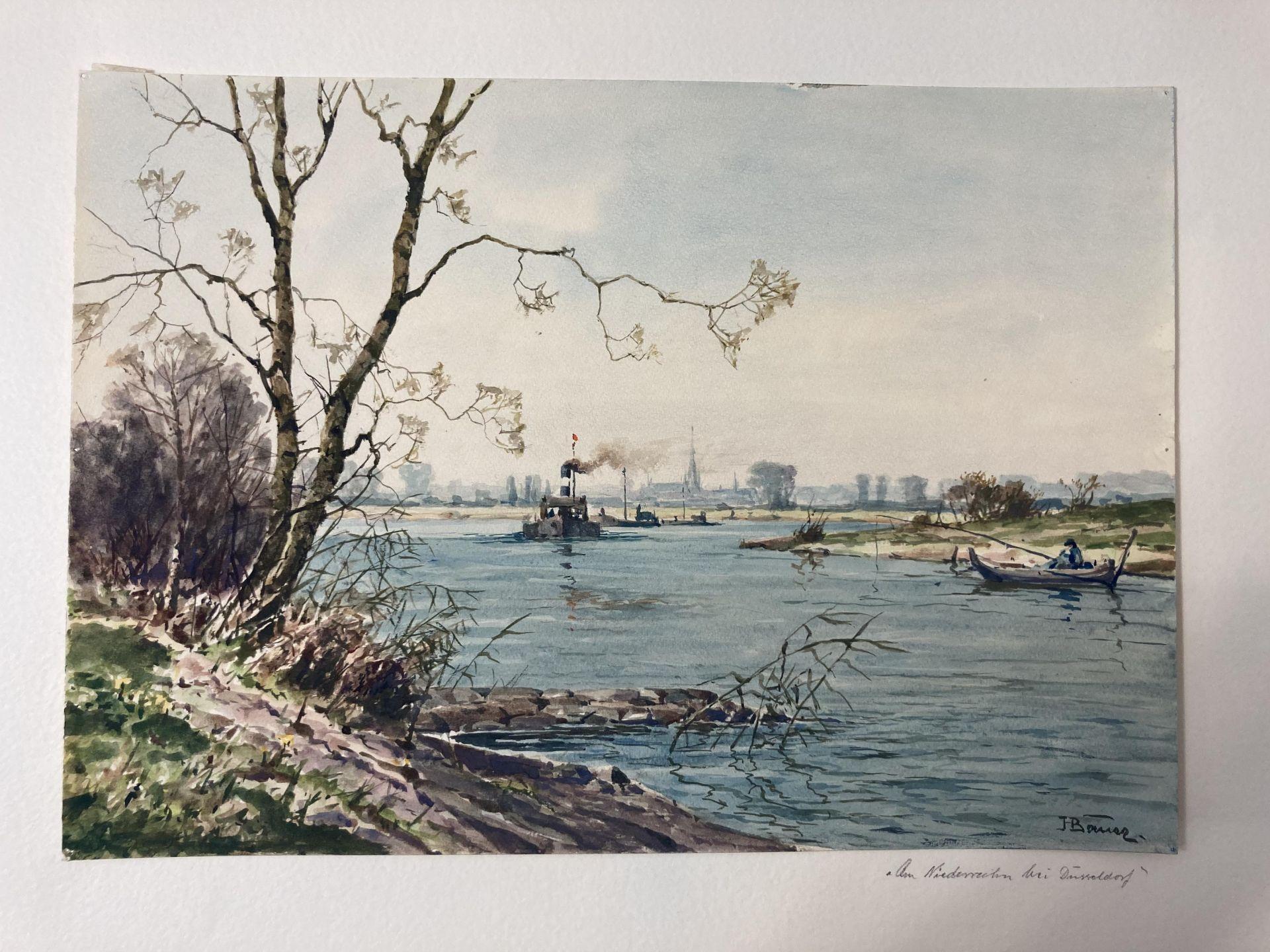 Bauer, Hans. 1883 Drebkau - 1967 Konstanz. Mappe mit 9 Aquarellen. Motive aus Bonn und dem - Bild 19 aus 20
