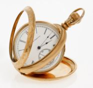 ELGIN NATIONAL WATCH & CO. USA - um 1890/1900Pocket watch. Hand wound. Red gold gold-plated,