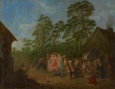 Rode, Bernhard. Berlin 1725 - 1797 – zugeschrieben. Hahnenschlagen. Öl auf Leinwand. Doubliert.