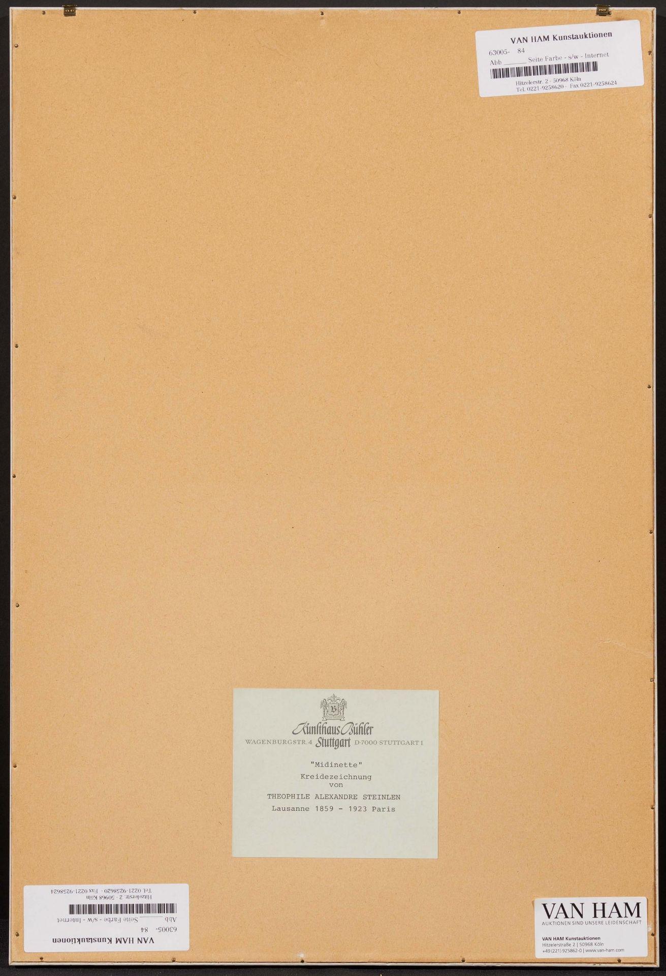 Steinlen, Théophile-Alexandre. 1859 Lausanne - 1923 Paris. Midinette. Lesendes junges Mädchen. - Bild 3 aus 4