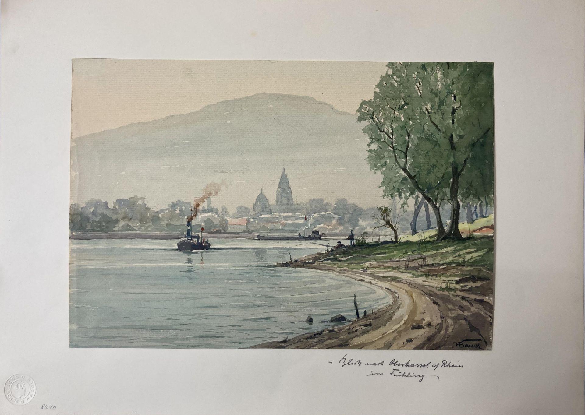 Bauer, Hans. 1883 Drebkau - 1967 Konstanz. Mappe mit 9 Aquarellen. Motive aus Bonn und dem - Bild 13 aus 20