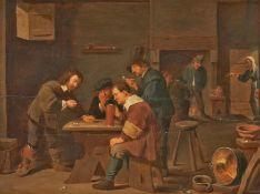 Teniers, David d.J 1610 Antwerpen - 1690 Brüssel. Nachfolge. Wirtshausszene mit Spielern und