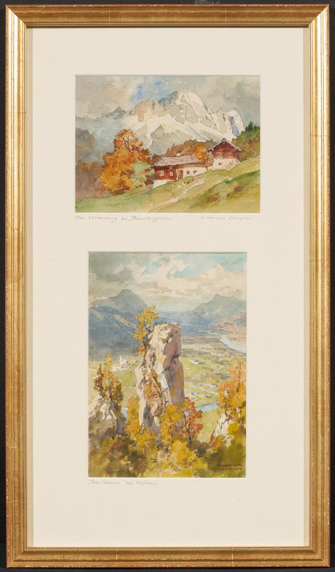 Compton, Edward Harrison. Feldafing 1881 - 1960. Zwei Aquarelle: Der Untersberg bei - Bild 2 aus 4