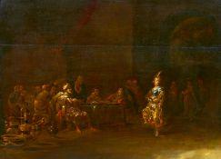 Bramer, Léonard. Delft 1596 - 1674. Nachfolge. Tanz der Salome. Öl auf Holz. 43 x 61cm. Rahmen.