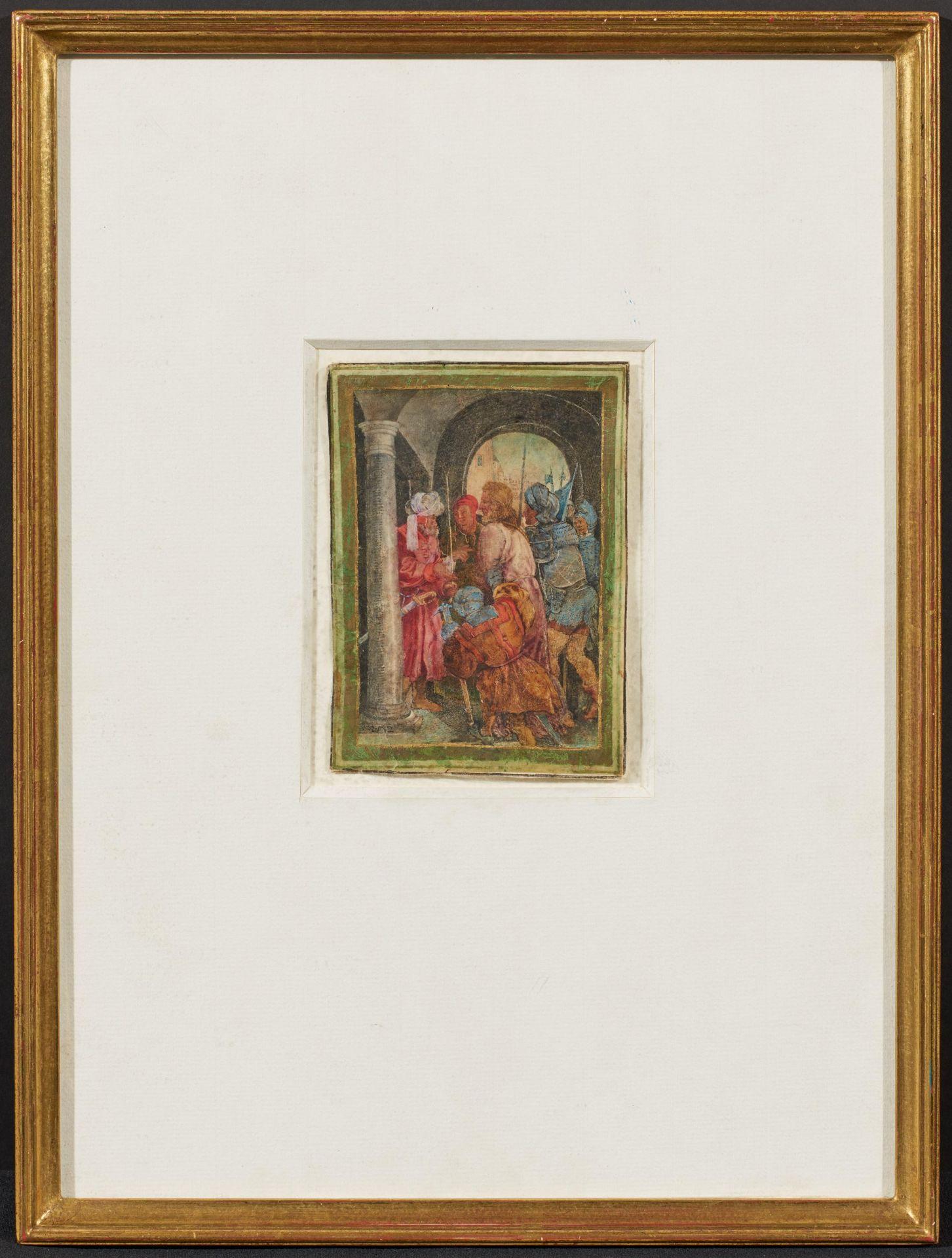 Dürer, Albrecht. Nürnberg 1471 - 1528 – nach. Christus vor Pilatus. Seitenverkehrte Kopie nach dem - Bild 2 aus 3