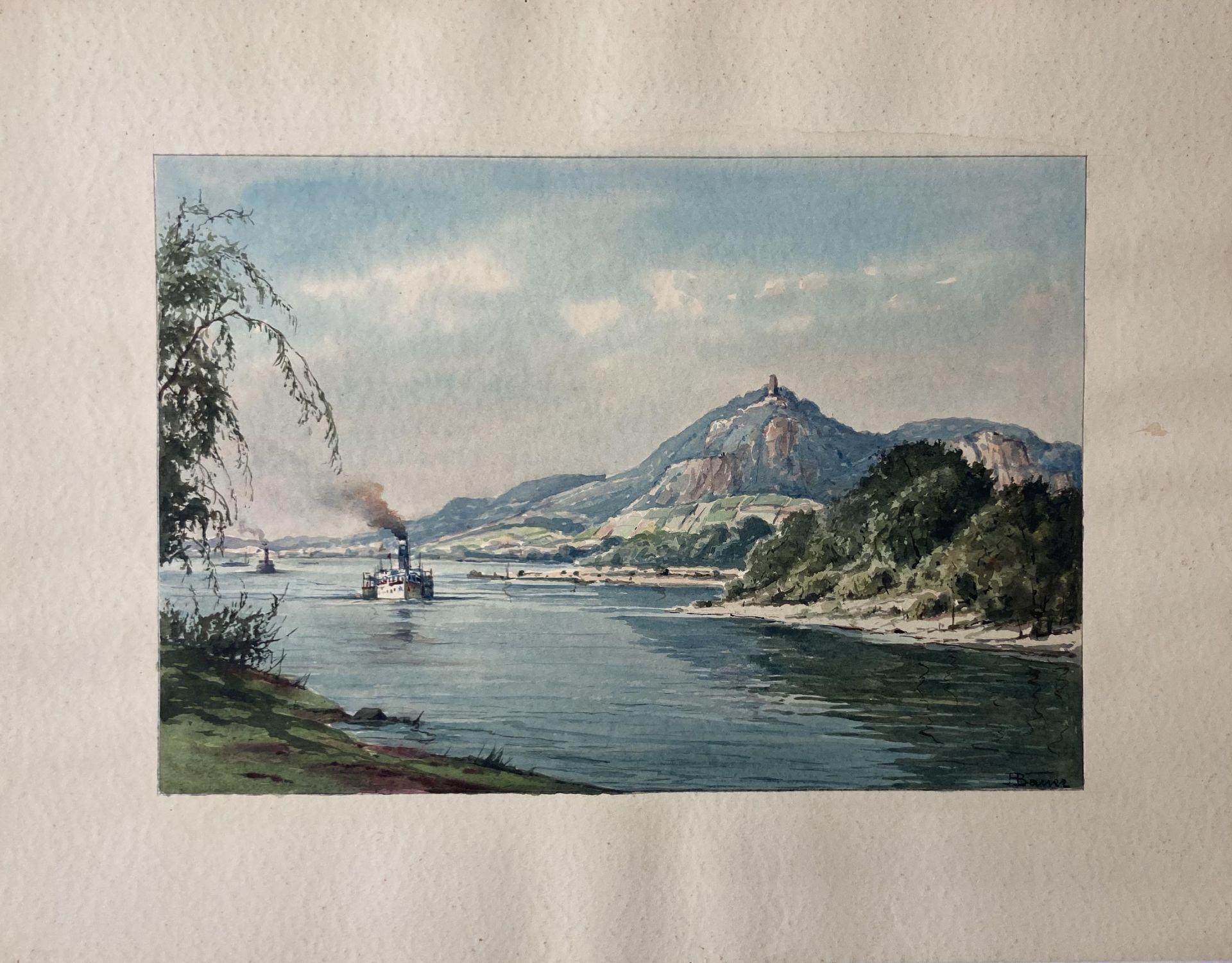 Bauer, Hans. 1883 Drebkau - 1967 Konstanz. Mappe mit 9 Aquarellen. Motive aus Bonn und dem - Bild 15 aus 20