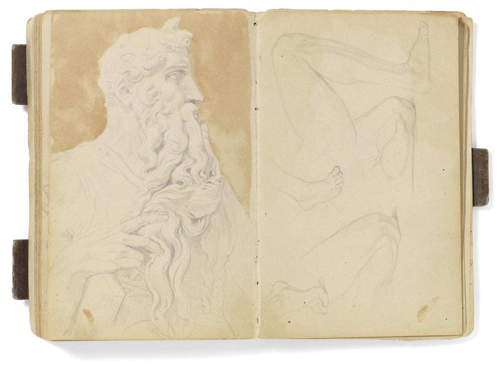 Kaupert, Gustav Kassel 1819 - 1897  Sketchbook, ca. 50 pages. Architecture, Italian landscapes - Bild 6 aus 6