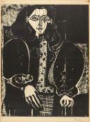 Femme au fauteuil (La manteau polonais)
