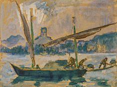 Lastenbarge auf Genfer See
