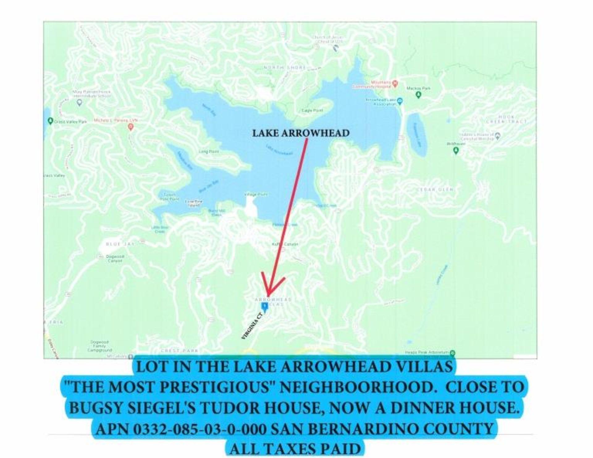 Vacant Parcel near Lake Arrowead, - Image 2 of 2