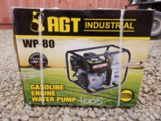 """Unused 2021 AGT WP-80 3"""" Water Pump,"""