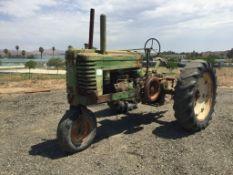 Vintage John Deere G Narrow Agricultural Tractor,