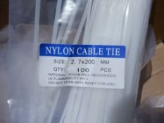(2) Boxes of 2.7 x 200M Nylon Cable Ties.