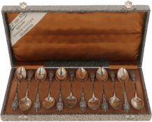 (12) Piece set of teaspoons in original silver pouch.
