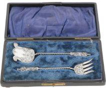 (2) Piece set with apostles silver.