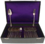 (24) Piece cutlery cassette 'Haags Lofje' silver.