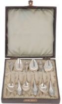 (6) piece lot of silver coffee spoons.