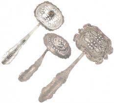 (3) piece lot of sprinkler spoons silver.