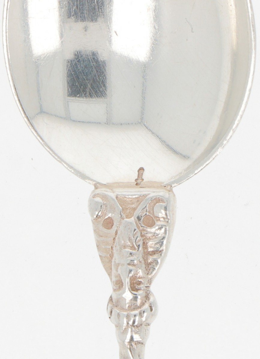 (11) piece set Apostle teaspoons silver. - Image 2 of 3