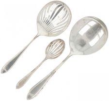 (3) piece lottery spoon silver.