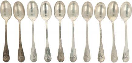 (10) piece set of teaspoons.