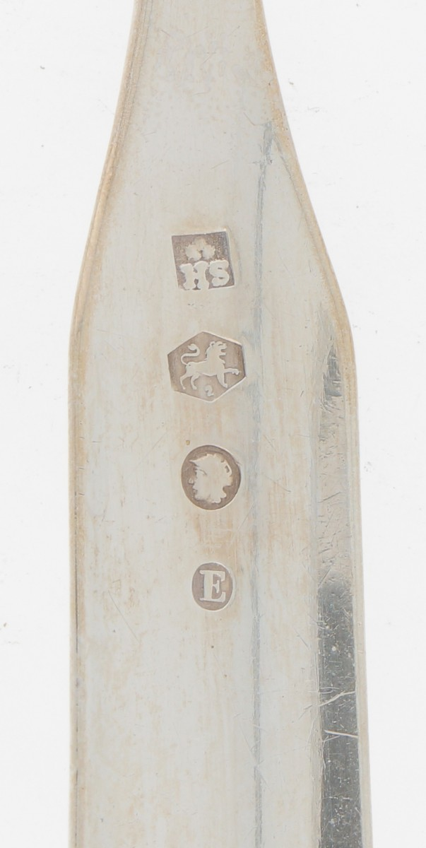 (2) piece set spoon & fork (Sander Jacob van der Hoeven) - Image 3 of 3