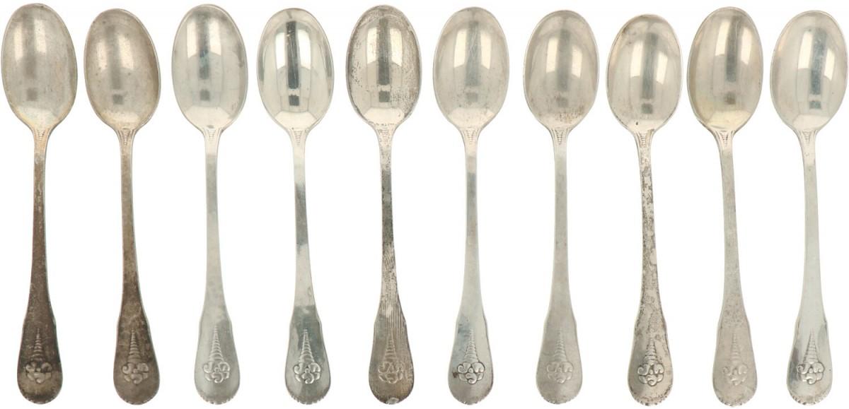 (10) piece set of teaspoons. - Image 2 of 2