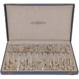 (12) piece of silver cake forks.