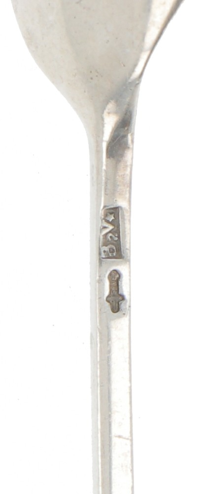 (8) piece set of silver mocha spoons. - Image 2 of 2