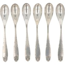 (6) piece set of silver teaspoons.