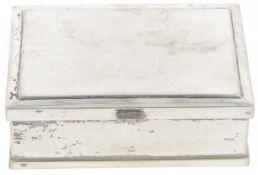Cigarette box silver.