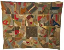 """A folk-art """"Americana"""" quilted-plaid, United States, late 19th century."""