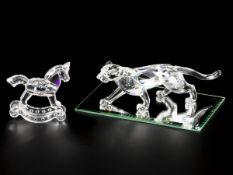 (3) piece lot of Swarovski miniatures