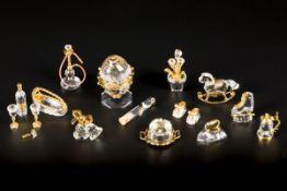 (11) piece lot Swarovski miniatures