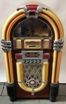(Curiosa) Jukebox, Wurlitzer Baby Wurlitzer jukebox, replica naar het originele model uit 1946