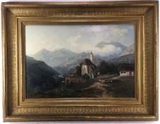 (Kunst) Schilderij, Stanislaus Kalckreuth Schilderij, olieverf op doek. Stanislaus Friedrich Lu