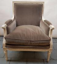 (Curiosa) Fauteuil Louis XVI stijl armfautuil. Conditie: In goede staat. Afmetingen: Hoogte 93