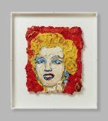 Bernd Schwarzer. Deutsch-Europäische Marilyn Monroe. (2017/18). Öl auf Leinwand. Verso signiert.