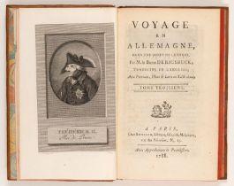 J. K. Riesbeck, Voyage en Allemagne. 3 Bde. Paris 1788.