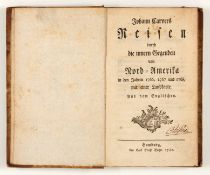 J. Carver, Reisen durch die innern Gegenden von Nord-Amerika. Hbg 1780.