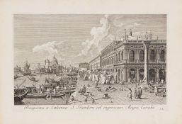 A. Canaletto / A. Visentini, Urbis Venetiarum Prospectus. 3 Teile in 1 Bd. Venedig 1742.